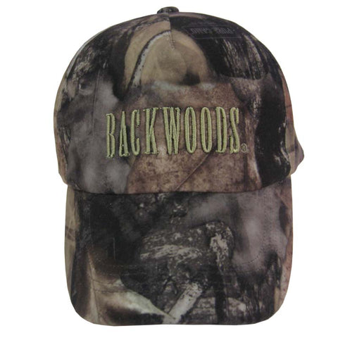 Camo Hunting Cap Backwoods Logo