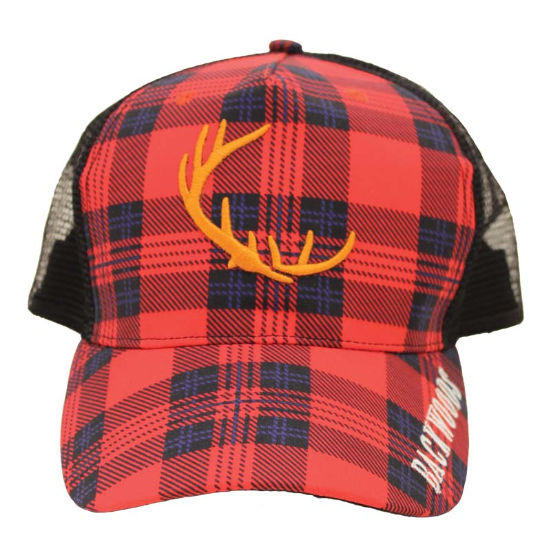Red Plaid Trucker Cap - Survival Gear Canada