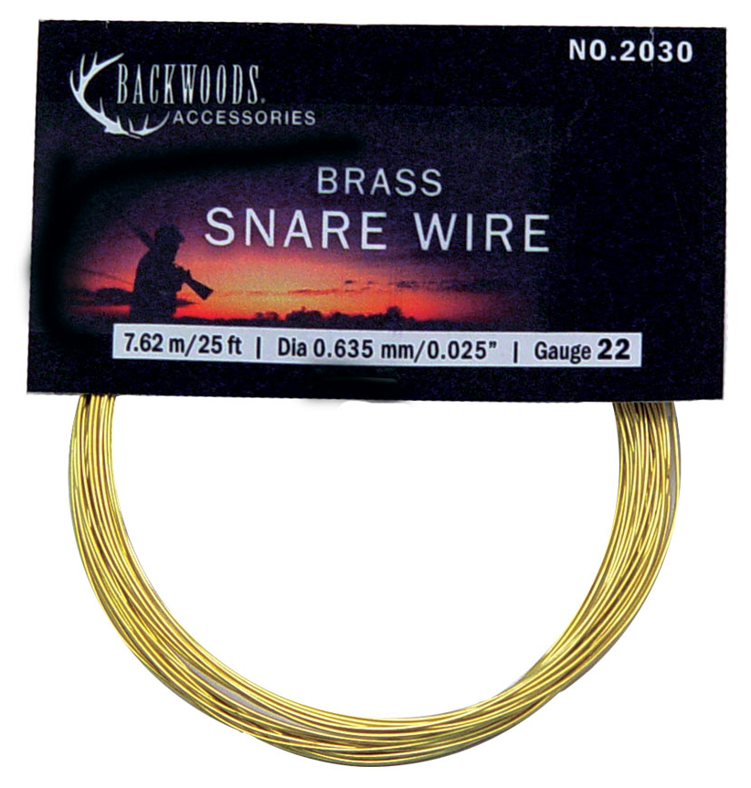 Brass Snare Wire  22G - Survival Gear Canada
