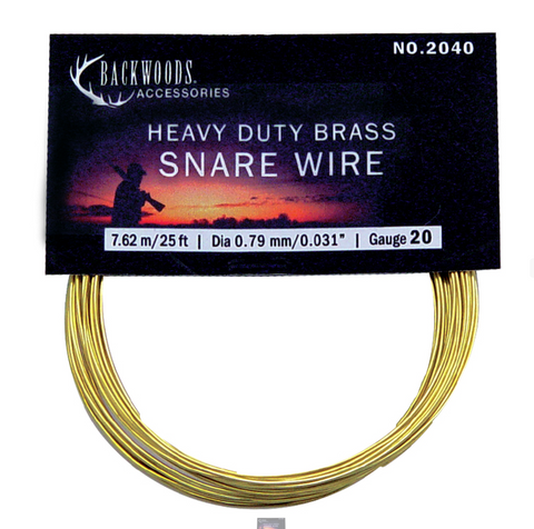 20 Gauge Heavy Brass Snare Wire