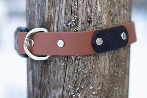 Backwoods Dog Quick Release BioThane® Collar Brown
