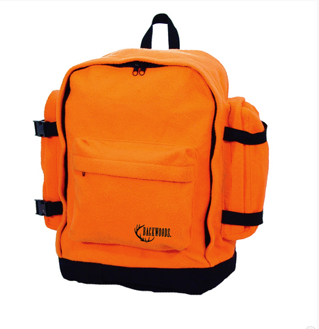 Hunters Blaze Orange Backpack Silent Fleece