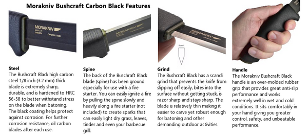 Mora Bushcraft Black - Survival Gear Canada