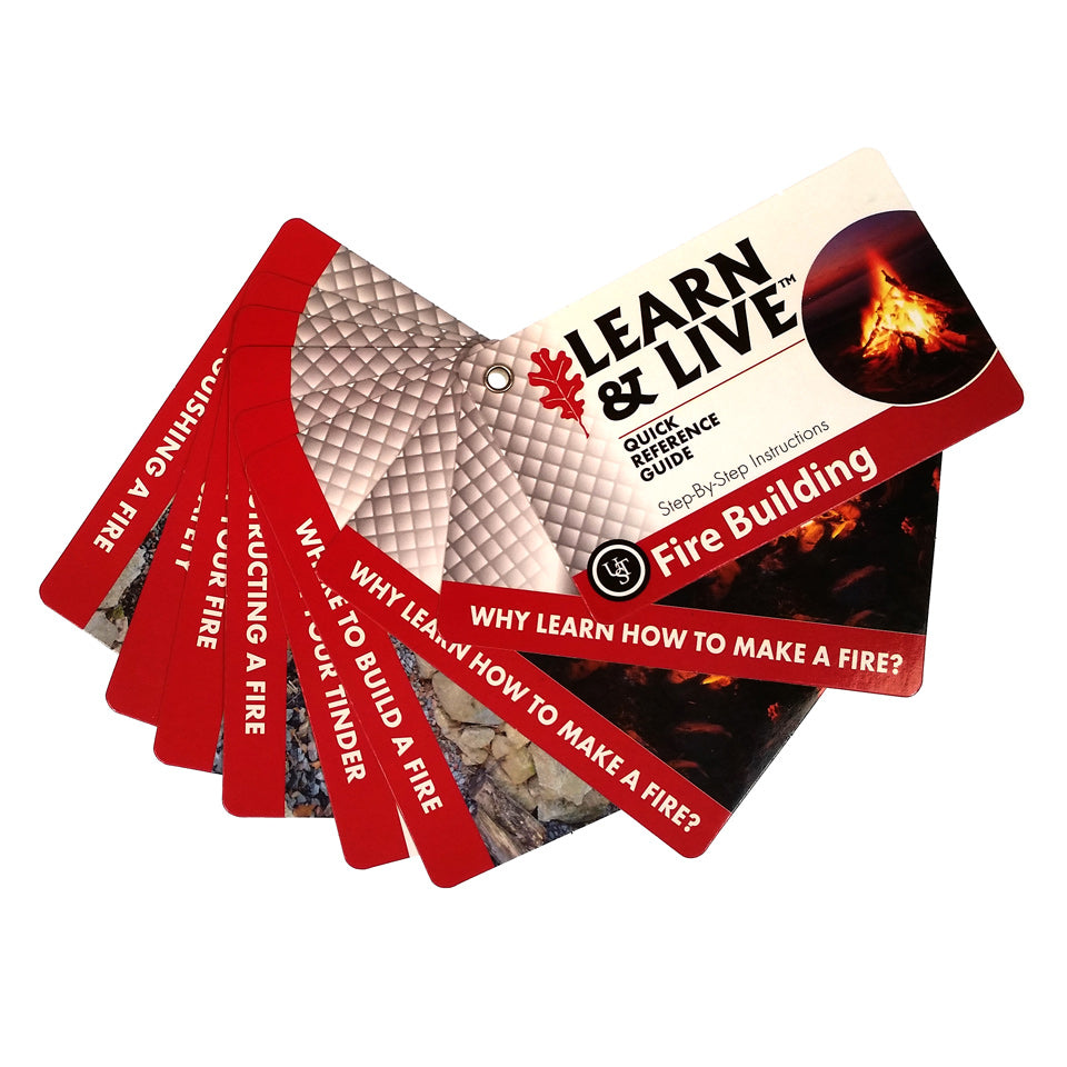 Learn & Live Fire Building Cards - Survival Gear Canada