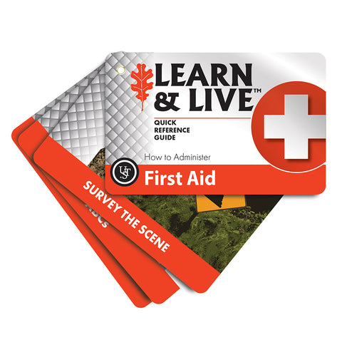 Learn & Live First Aid Cards - Survival Gear Canada