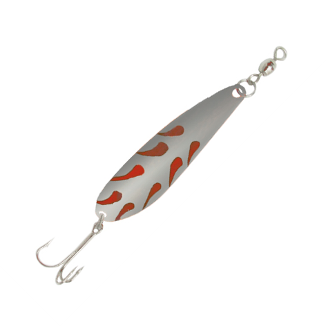 Silver/Red Crocodile Lures