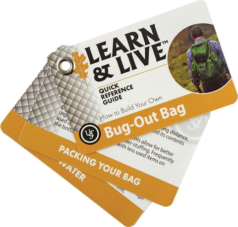 UST Learn & Live Cards - Bug Out Bag