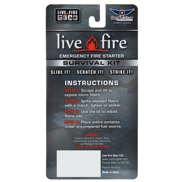 Live Fire Survival Kit - Survival Gear Canada