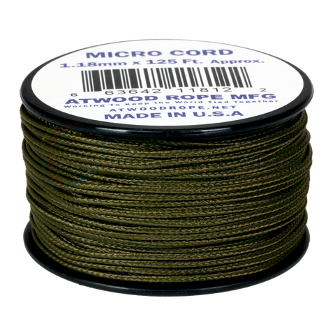 Atwood Rope 1.18mm Micro Cord - Olive Drab