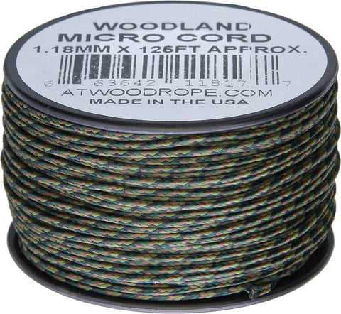 Atwood Rope Micro Cord Woodland Camo