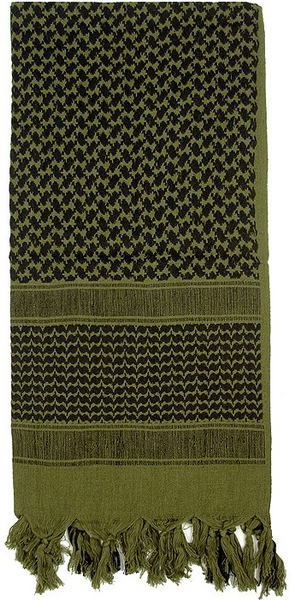 Olive Drab Shemagh Heavyweight Tactical Desert Keffiyeh Scarf
