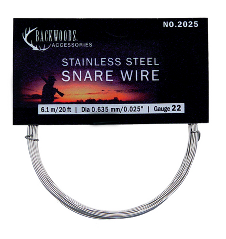 Backwoods 22 Gauge Stainless Steel Snare Wire