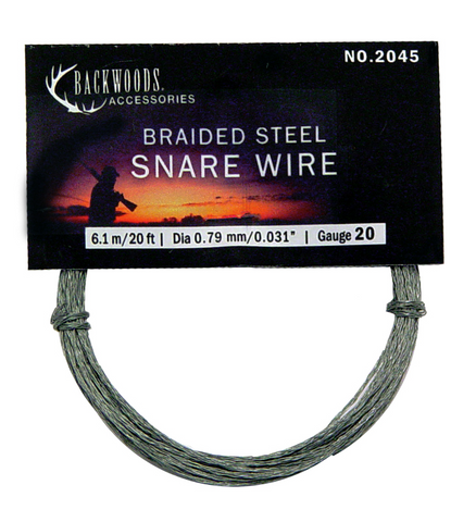 Backwoods Braided Stainless Steel Snare Wire 20 Gauge