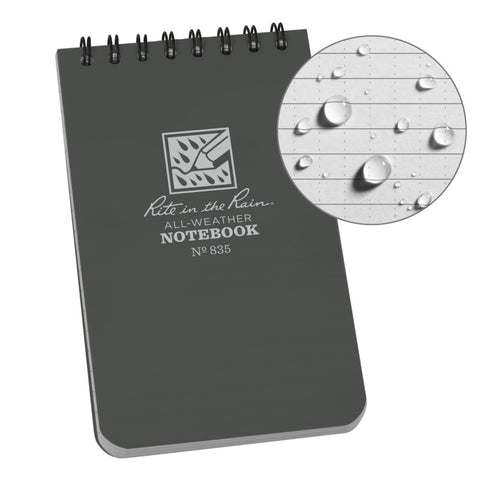 Rite in the Rain 3x5 Tactical Notepad Gray