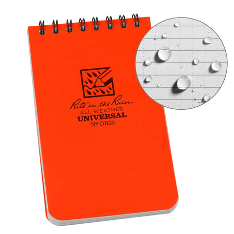 Rite in the Rain 3x5 Tactical Notepad Orange