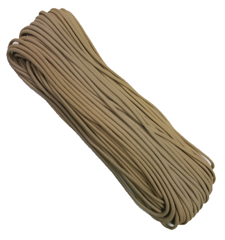 550 Paracord 100' Coyote Brown - Survival Gear Canada