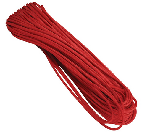 550 Paracord 100' Red - Survival Gear Canada