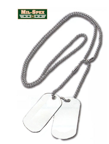 Mil Spex U.S. Military Dog Tags with Silencers - Survival Gear Canada