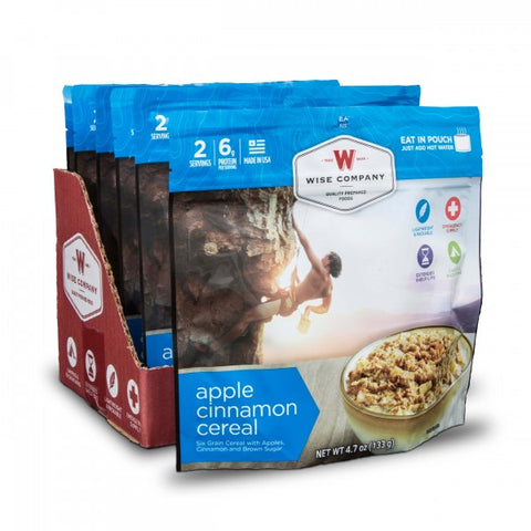 Apple Cinnamon Cereal Camping Food (Case of 6) - Survival Gear Canada