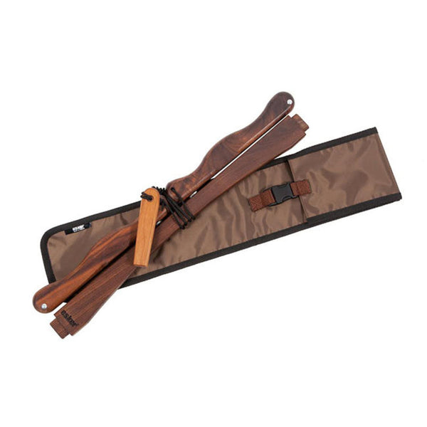 "Esker 24"" Walnut Folding Bucksaw with Carry Bag"