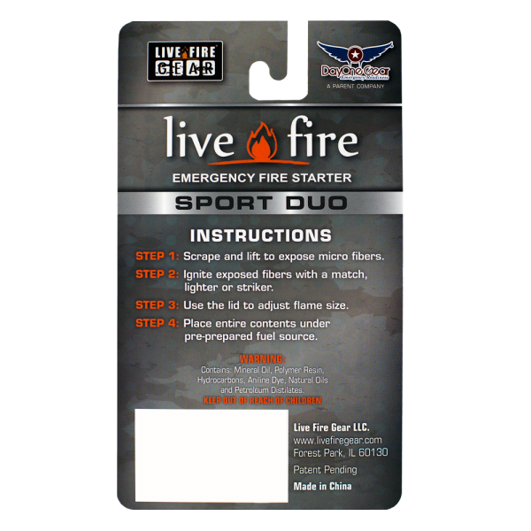 Live Fire Sport Duo - Survival Gear Canada
