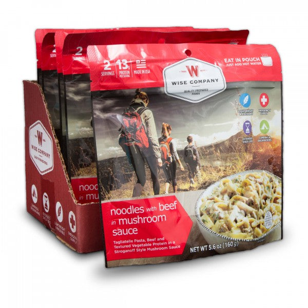 Noodles with Beef Camping Food (Case of 6) - Survival Gear Canada