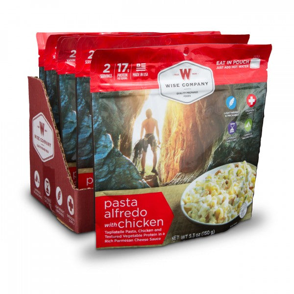 Pasta Alfredo with Chicken Camping Food (Case of 6) - Survival Gear Canada