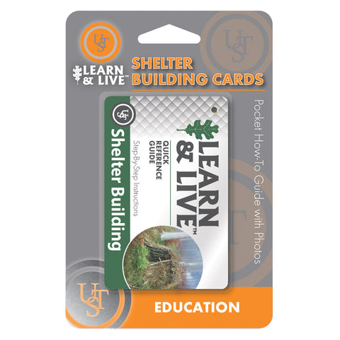 Learn & Live Shelter Building Cards - Survival Gear Canada