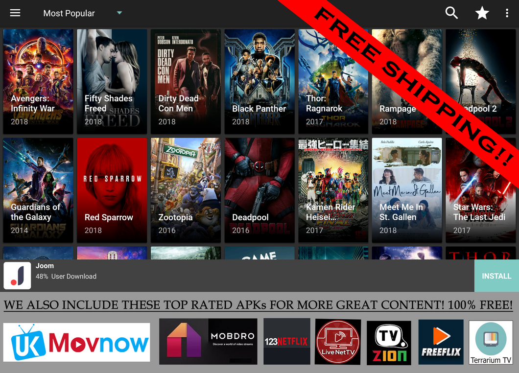 Latest Model Jailbroken Fire Stick Ultra HD Movies TV shows Kodi 17.6