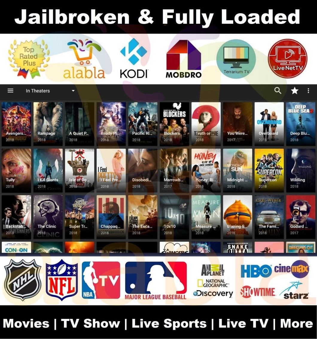 New! Jailbroken Fire Stick with all Full Movies Shows & Live Channels HD Kodi 17.6