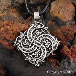Viking Wolf Head Warrior Amulet Pendant Necklace N005