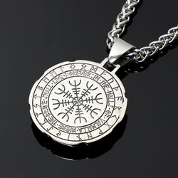 Stainless Steel Viking  Rune Pendant Necklace YAGEN001
