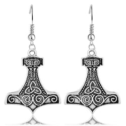 Thor's Hammer Celtic Knot Mjolnir Viking Earrings E002