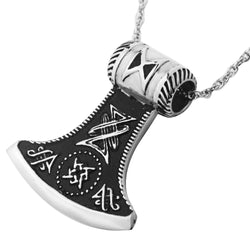 Large Talisman Viking Axe Pendant Necklace N039