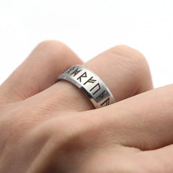 Viking Merchant Norse Viking Rune Ring Silver