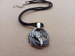 Odin's Raven Viking Necklace Pendant N012