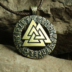 Valknut Amulet Norse Viking Warrior Necklace N016