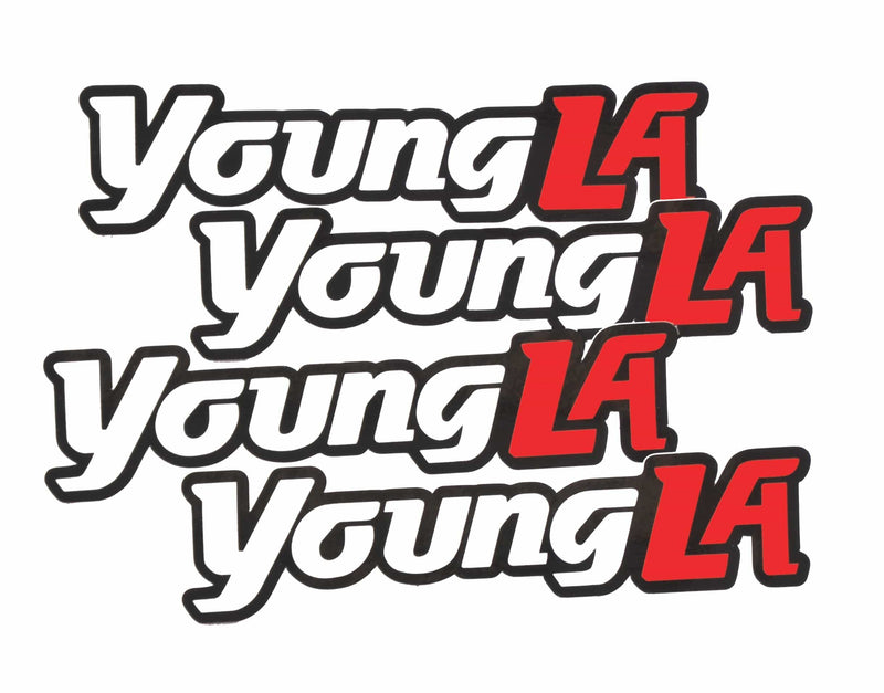 YoungLA Logo Stickers 5x2 inches (4 pack)