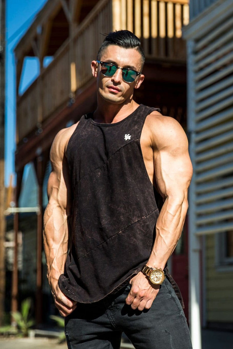 306 Elongated Muscle Cut-Off Bodybuilding Tanks