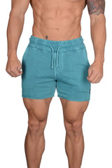 YoungLA Bodybuilding French Terry Shorts Vibrant Colors 102