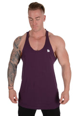 318 Palazzo Raw Edge Stringer Tank Top