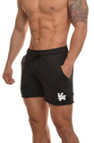gym shorts black cotton
