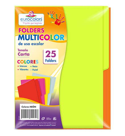 Folder Multicolor Arcoíris Neón