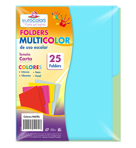 Folder Multicolor Arcoíris Pastel