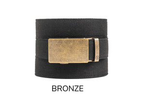 Black Canvas Ratchet Belt & Buckle Set