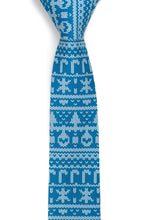 Load image into Gallery viewer, My grandma knit this Blue Ugly Christmas Sweater Tie - Tough Tie