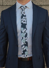 Load image into Gallery viewer, Brooks - Navy Floral and Succulent Tie