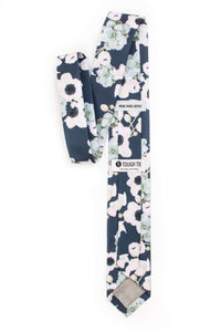 Brooks - Navy Floral and Succulent Tie