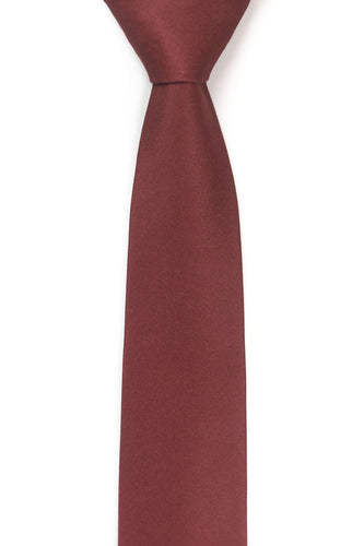 front view of burgundy tie by tough apparel