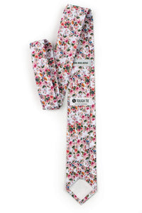 Merino - Pink and White Floral Tie